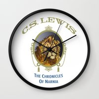 narnia Wall Clocks featuring The Chronicles of Narnia by Quigley Down Under