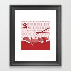 s is for sushi  Framed Art Print
