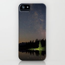 Milky Way in the Trees iPhone Case