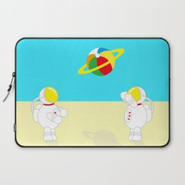 Space Odyssey | Astronaut Beach | Beach Ball | Summer | Sea | Seaside | Ocean | pulp of wood Laptop Sleeve