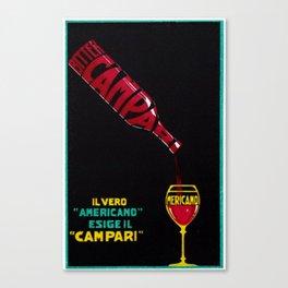 Vintage Bitter Campari 'IL Vero Americano' Advertisement Print Canvas Print