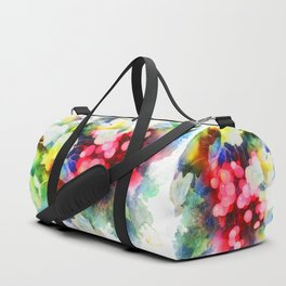 Watercolor grape vines Duffle Bag