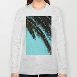 Palm Tree Blue Sky Long Sleeve T-shirt