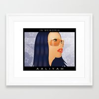 aaliyah Framed Art Prints featuring Aaliyah by itsme23