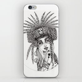 JennyMannoArt Graphite Drawing/Aiyana iPhone Skin