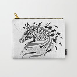 black horse unicorn ecopop Carry-All Pouch