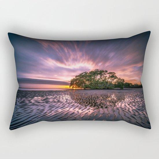 Landscape reflection 2 waves sky Rectangular Pillow