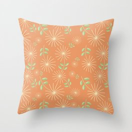 Delicate Flower Pattern II Throw Pillow