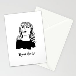 Jeanne Moreau Portrait Stationery Cards