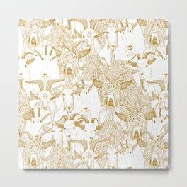just goats gold Metal Print