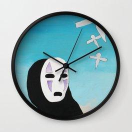 No Face & Paper Birds Wall Clock