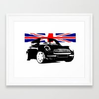 mini cooper Framed Art Prints featuring MINI COOPER  by karmadesigner
