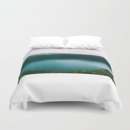 The Lake of the Living Spirals Duvet Cover