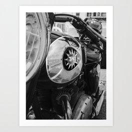 classic vintage British BSA motorbike Art Print