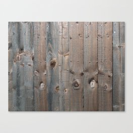 Brown Wooden Fence Canvas Print