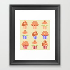 Yummy Cupcakes Framed Art Print