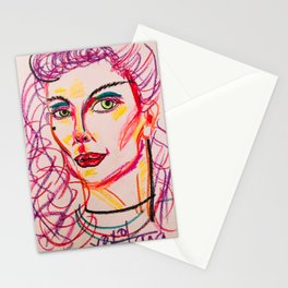 self portrait in purples (tara savelo) Stationery Cards