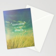 Happiness is a Day at the Beach Stationery Cards