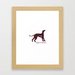 Greyhound Dog | Animal Art Design Framed Art Print