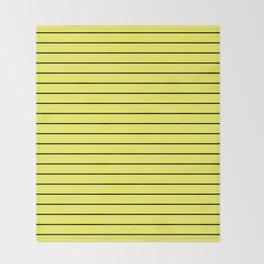 Black Lines On Yellow Throw Blanket