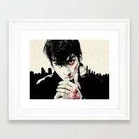 arctic monkeys Framed Art Prints featuring AM by Your Music Design
