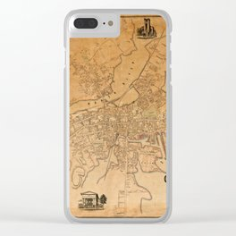 Map of Salem 1851 Clear iPhone Case