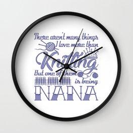 Knitting Nana Wall Clock
