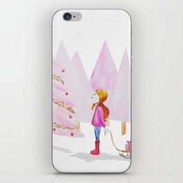 I'll Have A Pink Christmas iPhone Skin