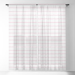 Thin Lines Pink Sheer Curtain