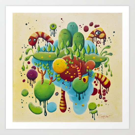 Dripping Drops Art Print