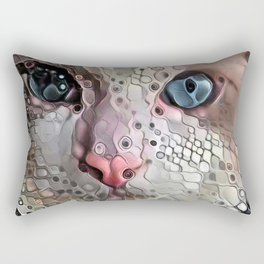 Look Into My Eyes Rectangular Pillow