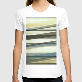 Semi Transparent Layers In Sand Brown and Blue T-shirt