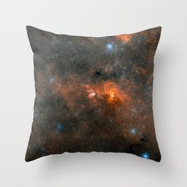 Hubble Space Telescope - Extreme star cluster bursts into life (2007) Throw Pillow