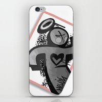 sticker iPhone & iPod Skins featuring Sticker Society by MelonJames