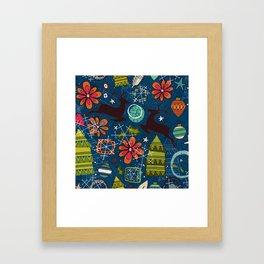 joyous jumble indigo Framed Art Print