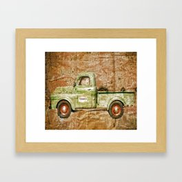 Texaco Service To Others Framed Art Print