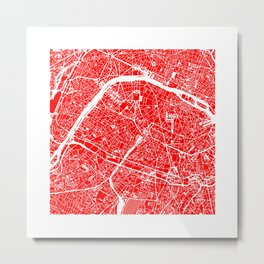 PARIS MAP ART Metal Print