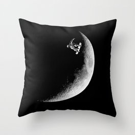 Moon boarder Throw Pillow