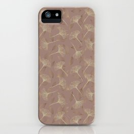 Elegant Gold Glitter Leaves Pattern Believe in Magic Typography iPhone Case
