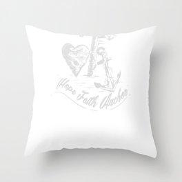 Bible Verse Hope Faith Anchor Christian Shirt Women Throw Pillow
