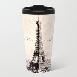 la Vie en Rose vintage Metal Travel Mug
