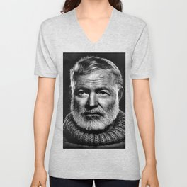Earnest Ernest Hemingway Unisex V-Neck