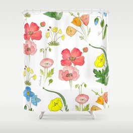 Types of Poppies Shower Curtain