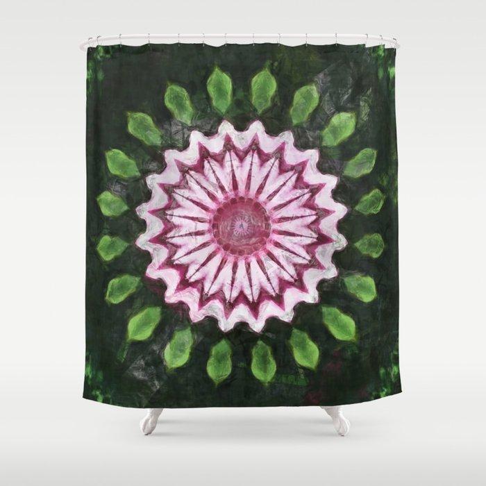 Rosas Moradas 2 Kaleidoscope 15 Shower Curtain