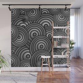 Charcoal Swirls Wall Mural