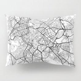 Rome Map White Pillow Sham
