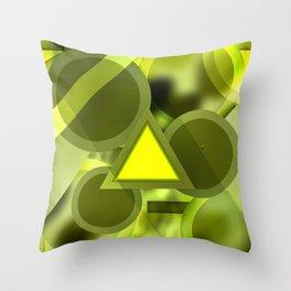 Cascading Energy Throw Pillow