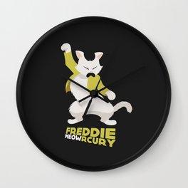 Freddie Meowrcury Wall Clock