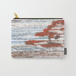 Orange blue marble wash drawing Carry-All Pouch