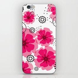 PEPPER POPPIES | fuschia iPhone Skin